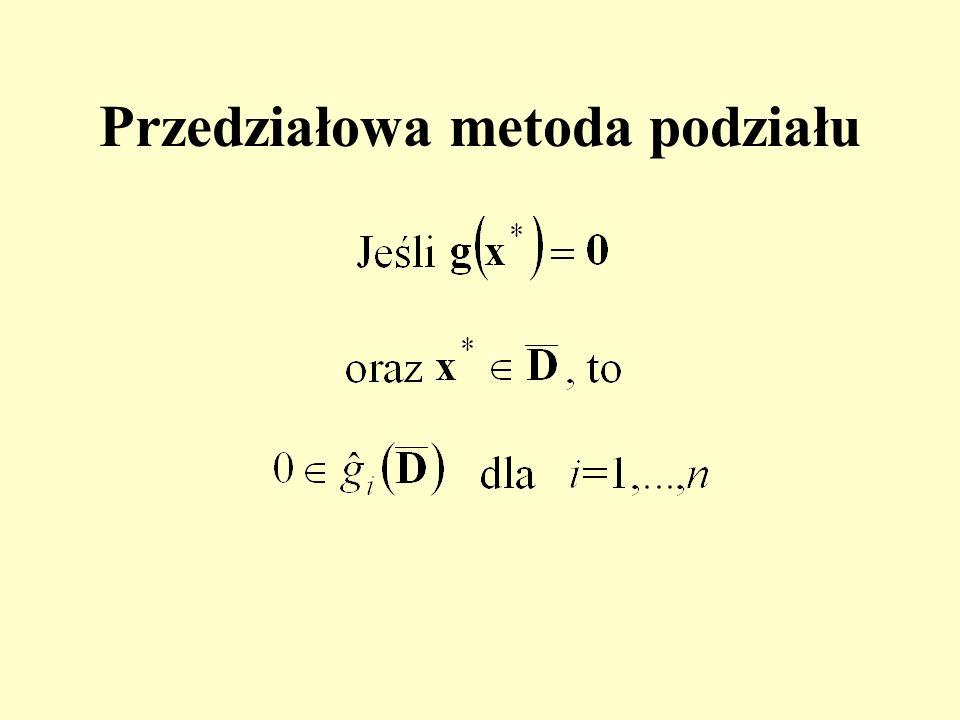Przedziałowa metoda podziału