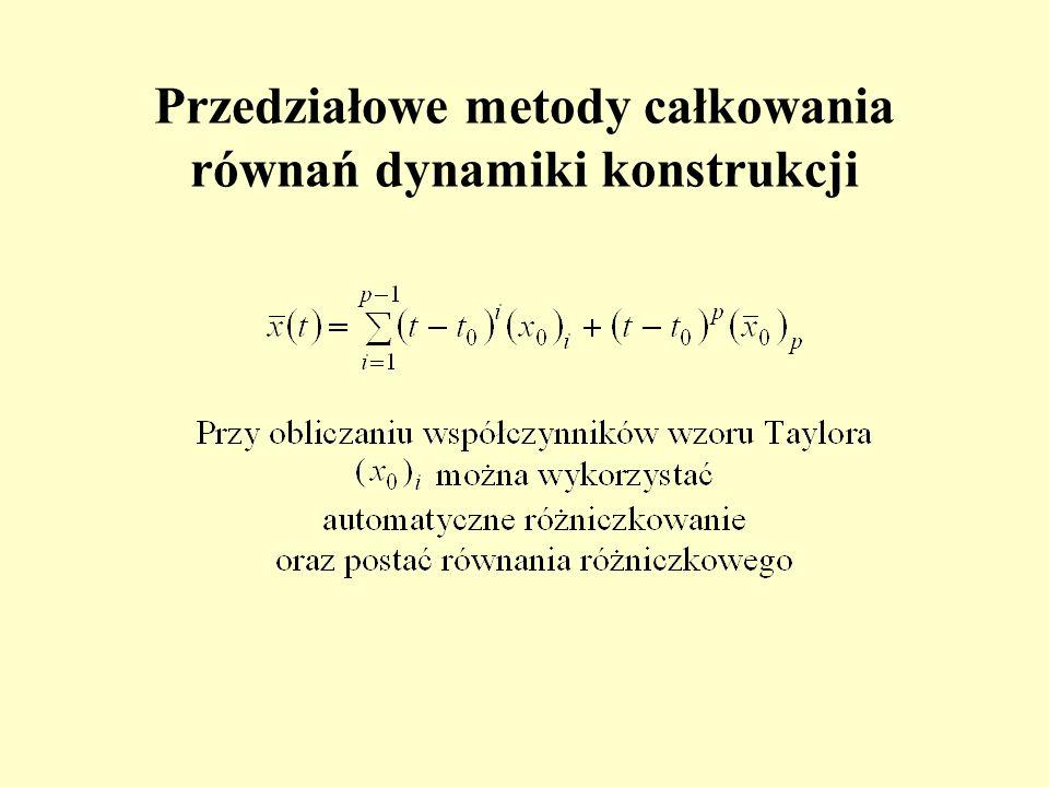 Przedziałowe metody całkowania równań dynamiki konstrukcji