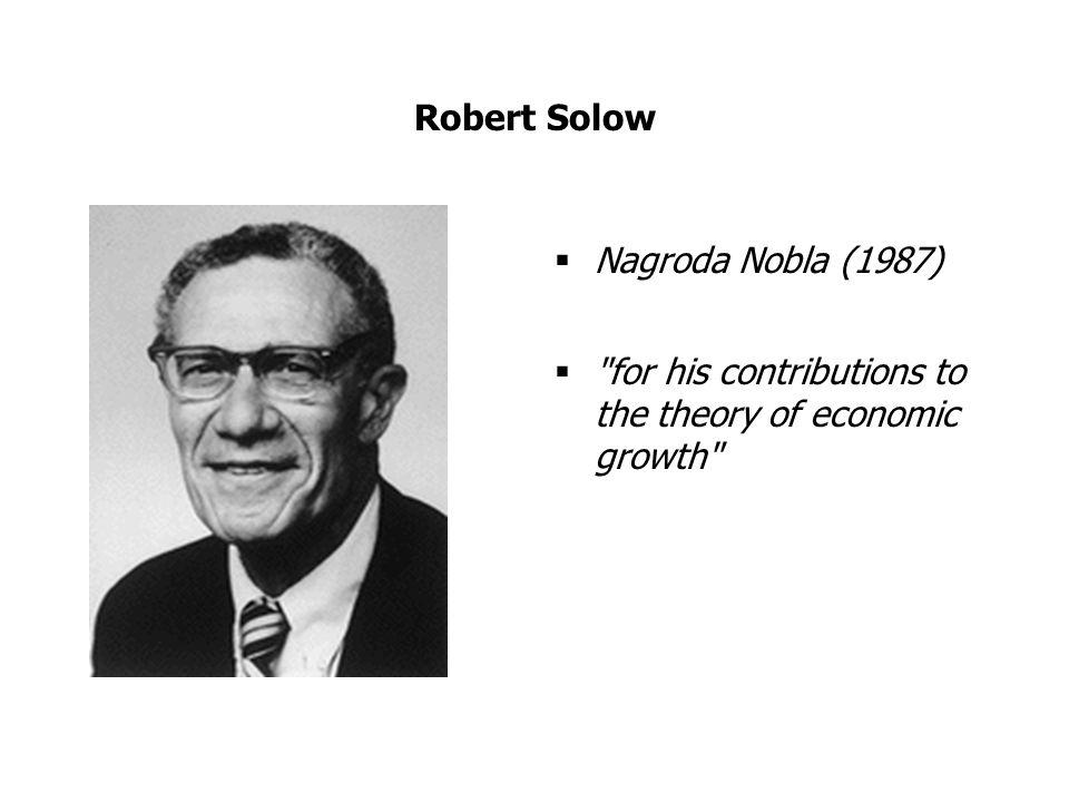Robert Solow Nagroda Nobla (1987)
