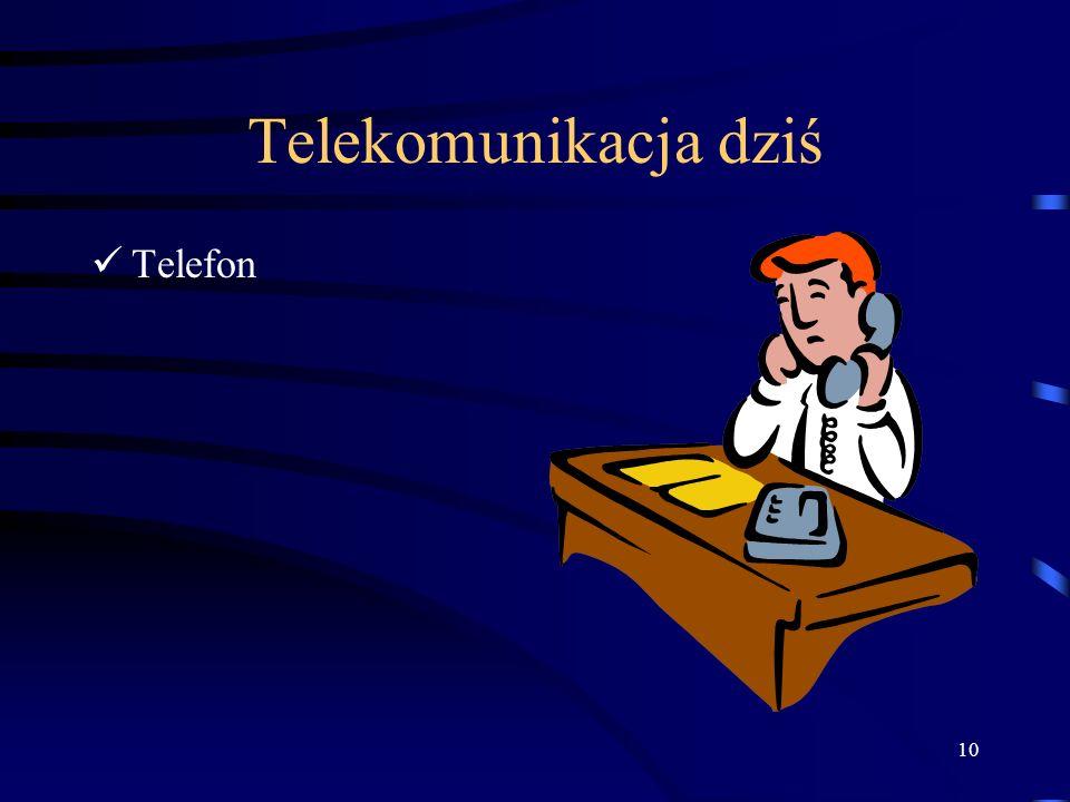 10 Telekomunikacja dziś Telefon
