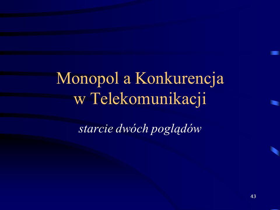 43 Monopol a Konkurencja w Telekomunikacji starcie dwóch poglądów
