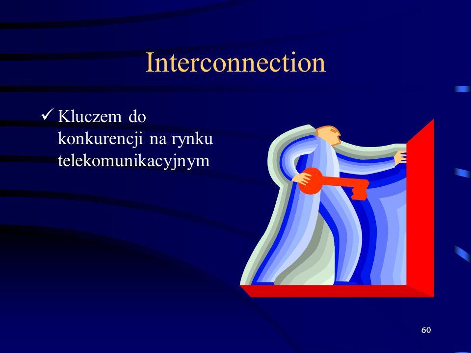 60 Interconnection Kluczem do konkurencji na rynku telekomunikacyjnym