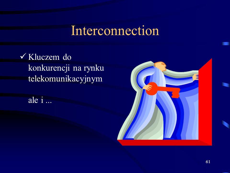 61 Interconnection Kluczem do konkurencji na rynku telekomunikacyjnym ale i...