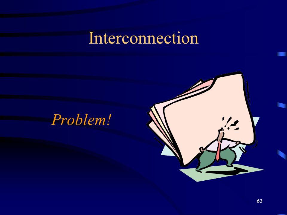 63 Interconnection Problem!