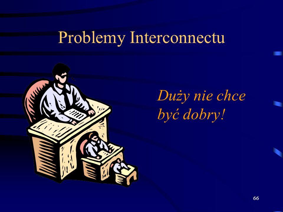 66 Problemy Interconnectu Duży nie chce być dobry!