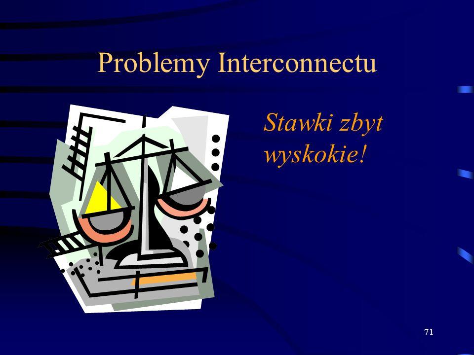 71 Problemy Interconnectu Stawki zbyt wyskokie!