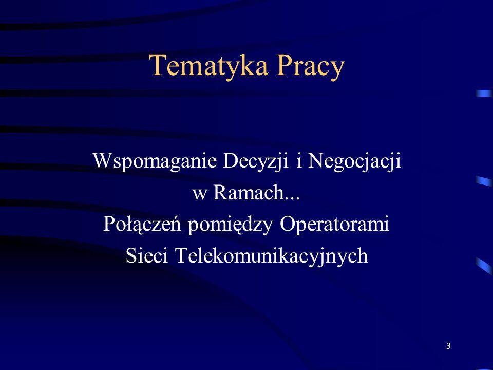4 Tematyka Pracy Wspomaganie Decyzji i Negocjacji w Ramach...