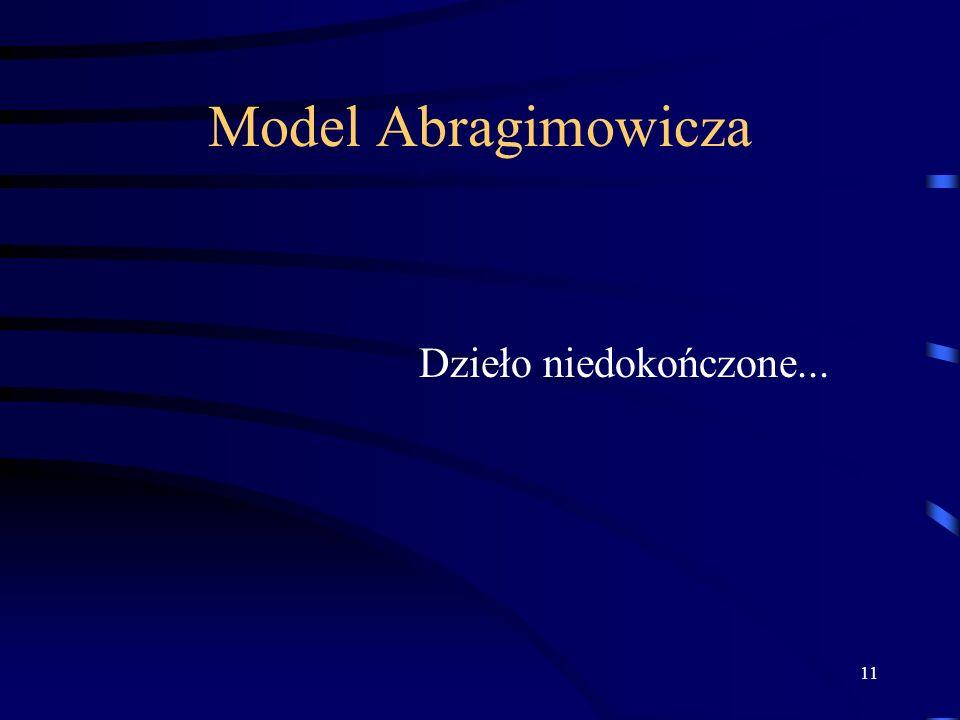11 Model Abragimowicza Dzieło niedokończone...