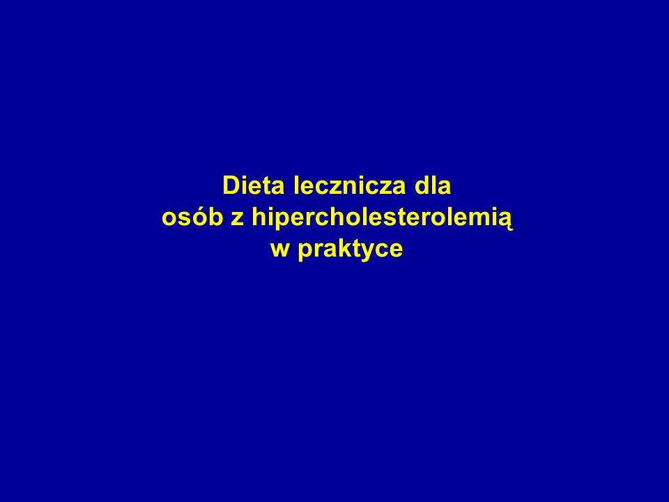 Dieta lecznicza dla osób z hipercholesterolemią w praktyce