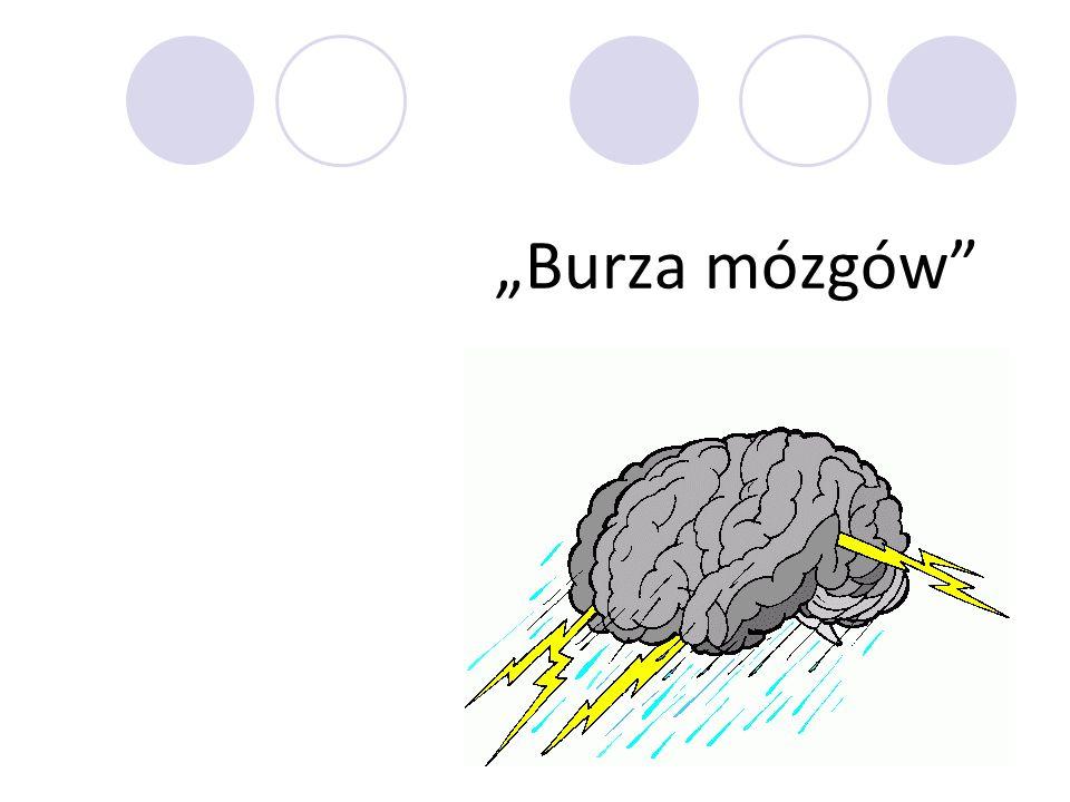 Burza mózgów zwana inaczej giełda pomysłów - stanowi odmianę metod problemowych i należy do grupy metod gier dydaktycznych.