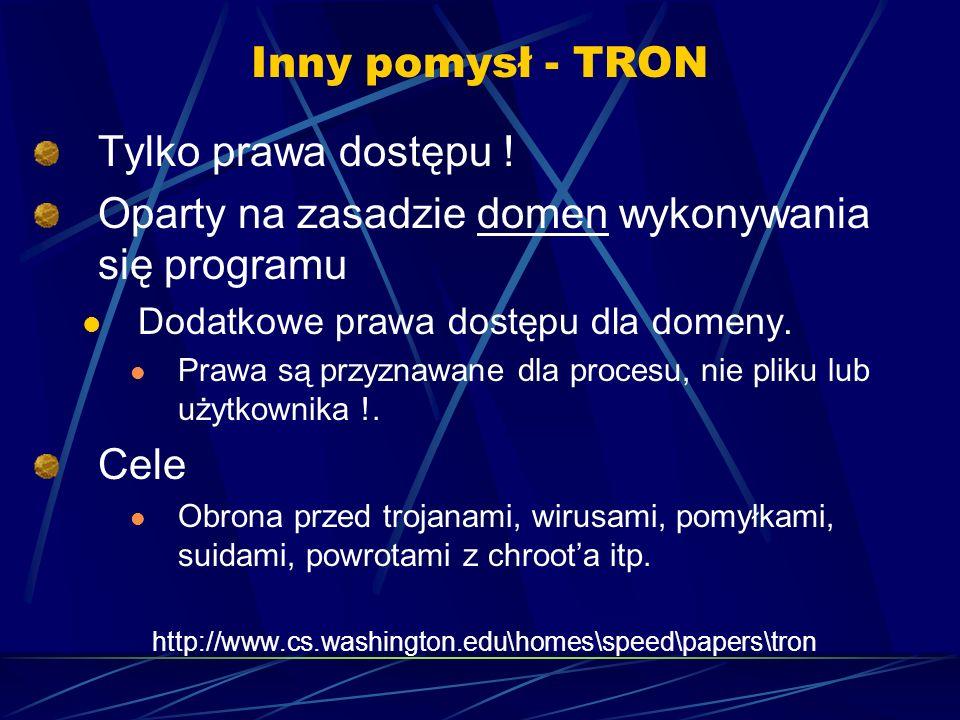 Inny pomysł - TRON Tylko prawa dostępu .