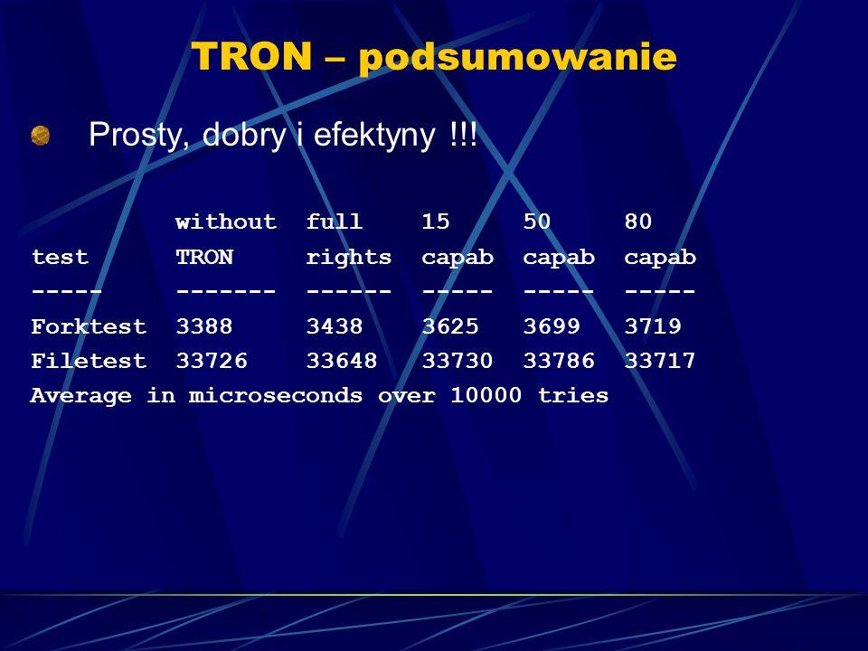 TRON – podsumowanie Prosty, dobry i efektyny !!.