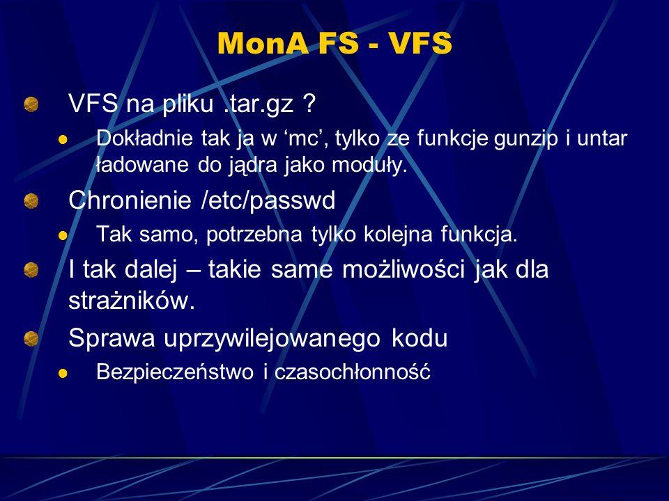 MonA FS - VFS VFS na pliku.tar.gz .