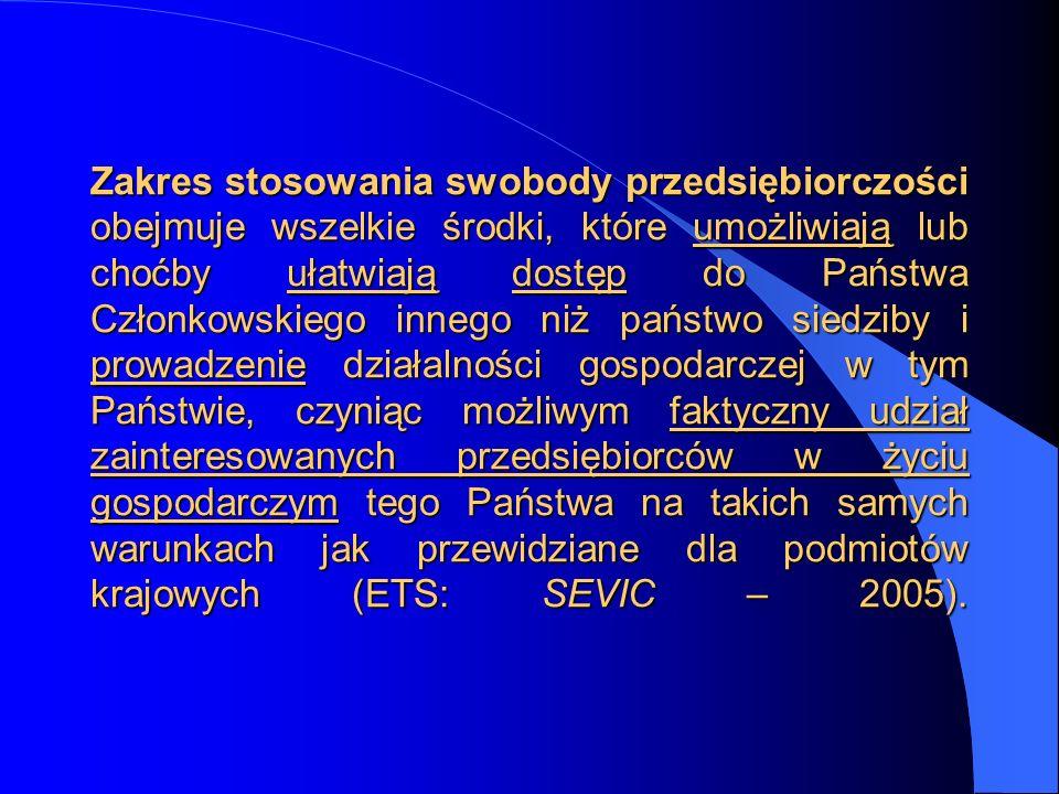 Wyrok ETS w sprawie C 170/05, Denkavit [2006], W przypadku sp ó łek należy stwierdzić, że ich siedziba w rozumieniu art.