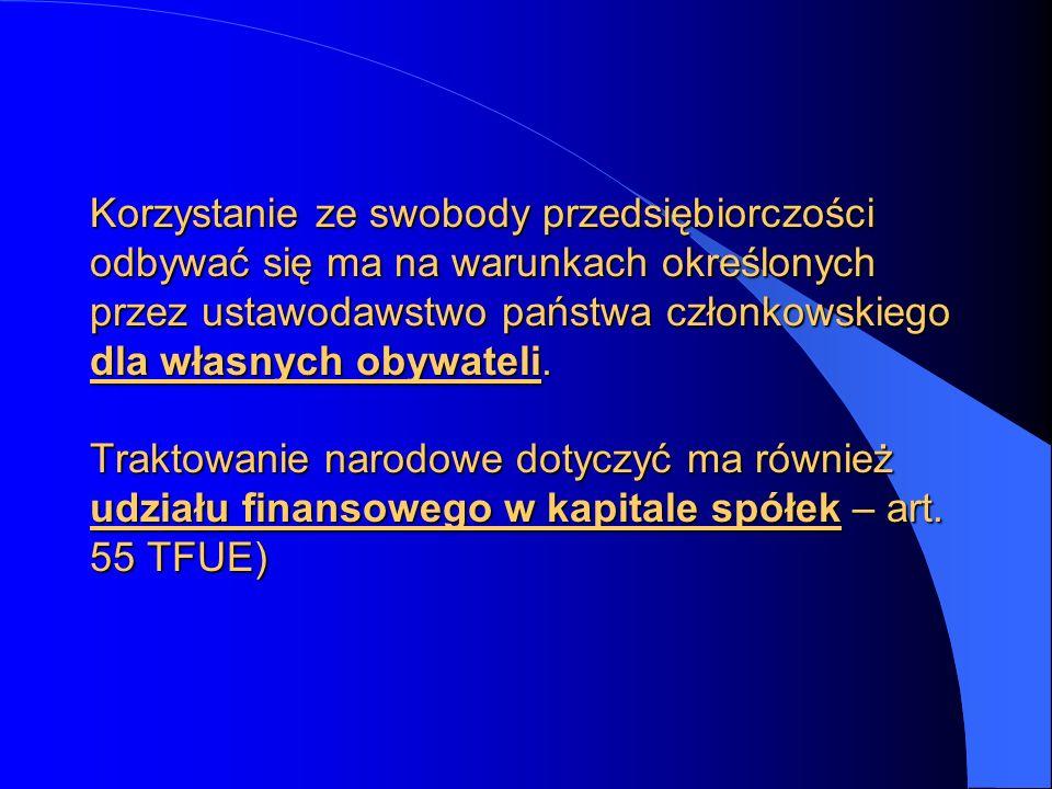W ramach tego uprawnienia mieści się możliwość, by to państwo członkowskie nie zgodziło się na zachowanie tego statusu przez spółkę podlegającą jego prawu krajowemu, jeżeli zamierza ona zreorganizować się w innym państwie członkowskim w taki sposób, by przenieść swoją siedzibę na jego terytorium, zrywając w ten sposób powiązanie przewidziane w prawie krajowym państwa członkowskiego, na podstawie prawa którego została utworzona.W ramach tego uprawnienia mieści się możliwość, by to państwo członkowskie nie zgodziło się na zachowanie tego statusu przez spółkę podlegającą jego prawu krajowemu, jeżeli zamierza ona zreorganizować się w innym państwie członkowskim w taki sposób, by przenieść swoją siedzibę na jego terytorium, zrywając w ten sposób powiązanie przewidziane w prawie krajowym państwa członkowskiego, na podstawie prawa którego została utworzona.