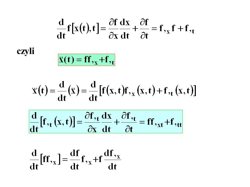 Sprowadzamy do układu równań I-go rzędu Warunki początkowe: Obliczenia chcemy prowadzić z dokładnością 0.001 Startujemy z krokiem h=0.1.