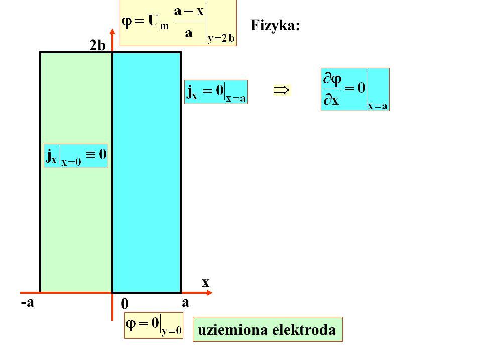 x -aa 0 2b Fizyka: uziemiona elektroda