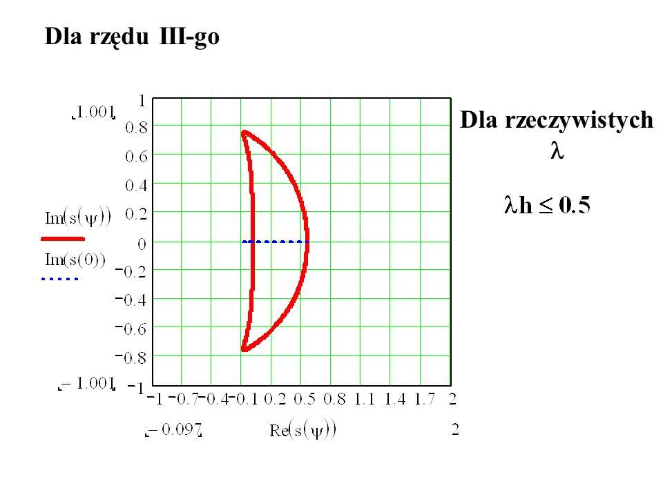Dla czwartego rzędu h jeszcze mniejsze niż dla metody rzędu trzeciego