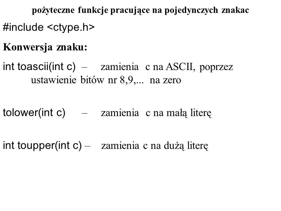 errno – kod błędu Większość funkcji bibliotecznych zwraca szczególną wartość dla zaznaczenia, że zawiodły.