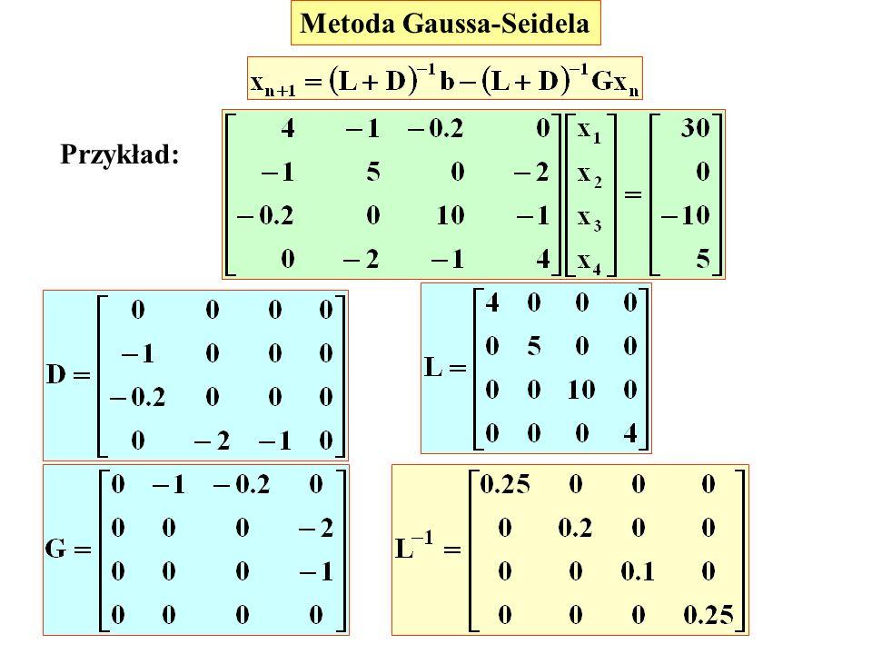 Metoda Gaussa-Seidela Przykład: