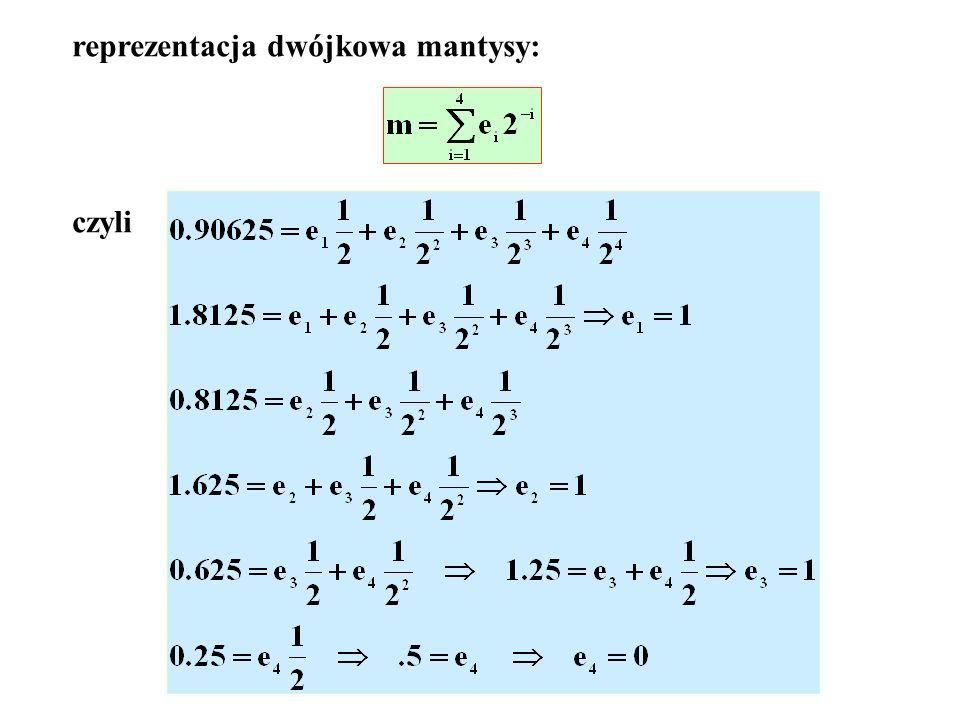 Przy ośmiu bajtach dla zapisu liczb rzeczywistych liczb między 7.00 i 7.50 nie rozróżniamy.