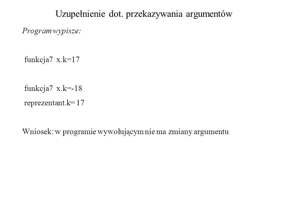 memset void * memset (void *block, int c, size_t size) /* przyklad inicjalizowania pamieci przygotowanej dla macierzy structur */ #include struct nowa { int f; char line[992]; int k; /* alfa[] zdefiniowana statycznie*/ } alfa[100]; /* kontynuacja na następnej stronie */