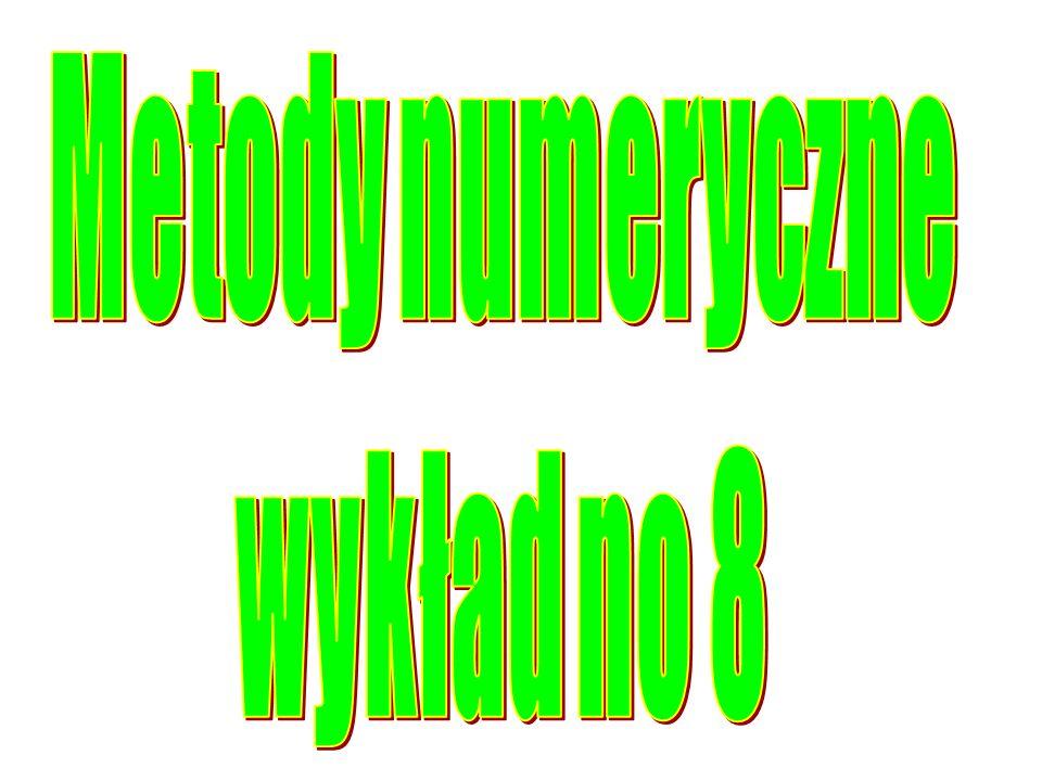 Liczba niewiadomych do wyznaczenia w algorytmie: Współczynników a i wynosi: p+1 Współczynników b i wynosi: p+2 Całkowita liczba niewiadomych: 2p+3 Układ równań: k=0,1,...,n można spełnić pod warunkiem, że liczba równań n+1 2p+3