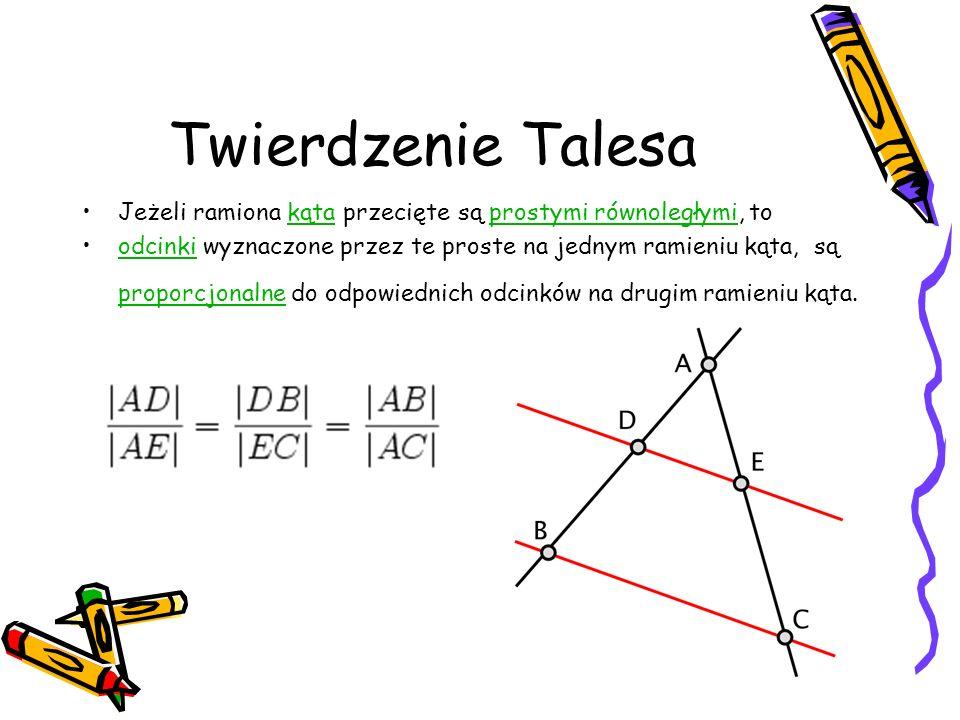 Twierdzenie Pitagorasa W dowolnym trójkącie prostokątnym,trójkącie prostokątnym suma pól kwadratów zbudowanychpólkwadratów na przyprostokątnych trójką
