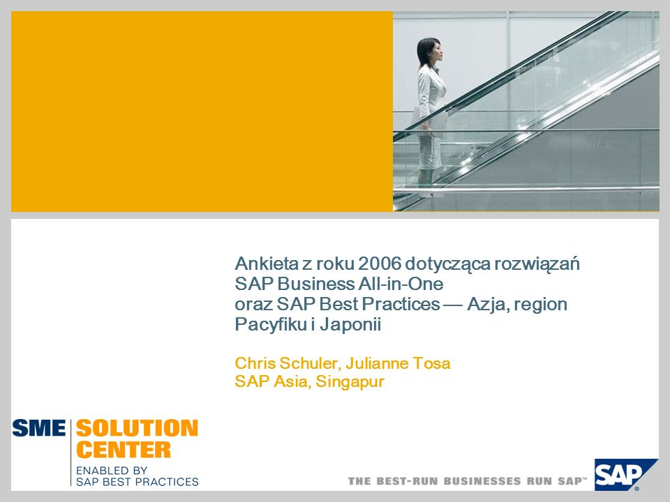 Rozwiązania SAP Business All-in-One i SAP Best Practices są...