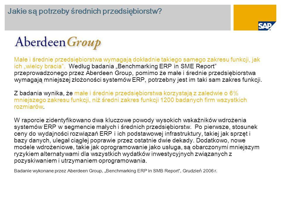 Średnia oszczędność czasu podczas oceny i wdrożenia Wykorzystanie rozwiązań SAP Business All-in- One i SAP Best Practices przyczyniło się do zmniejszenia kosztów projektu dla 100% klientów.