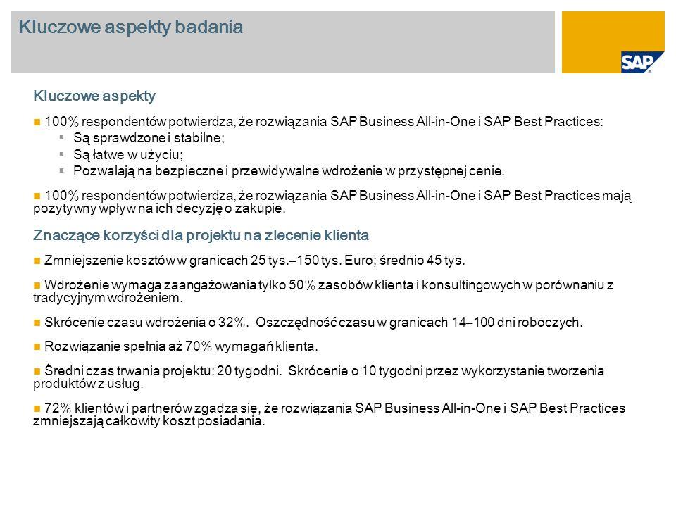 Zakres rozwiązania Po por ó wnaniu z innymi rozwiązaniami ERP wybraliśmy SAP, ponieważ posiada ogromny zakres funkcji i dużą możliwość skalowania.