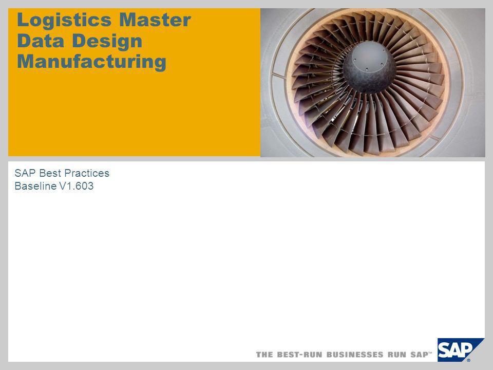 Logistics Master Data Design Manufacturing SAP Best Practices Baseline V1.603