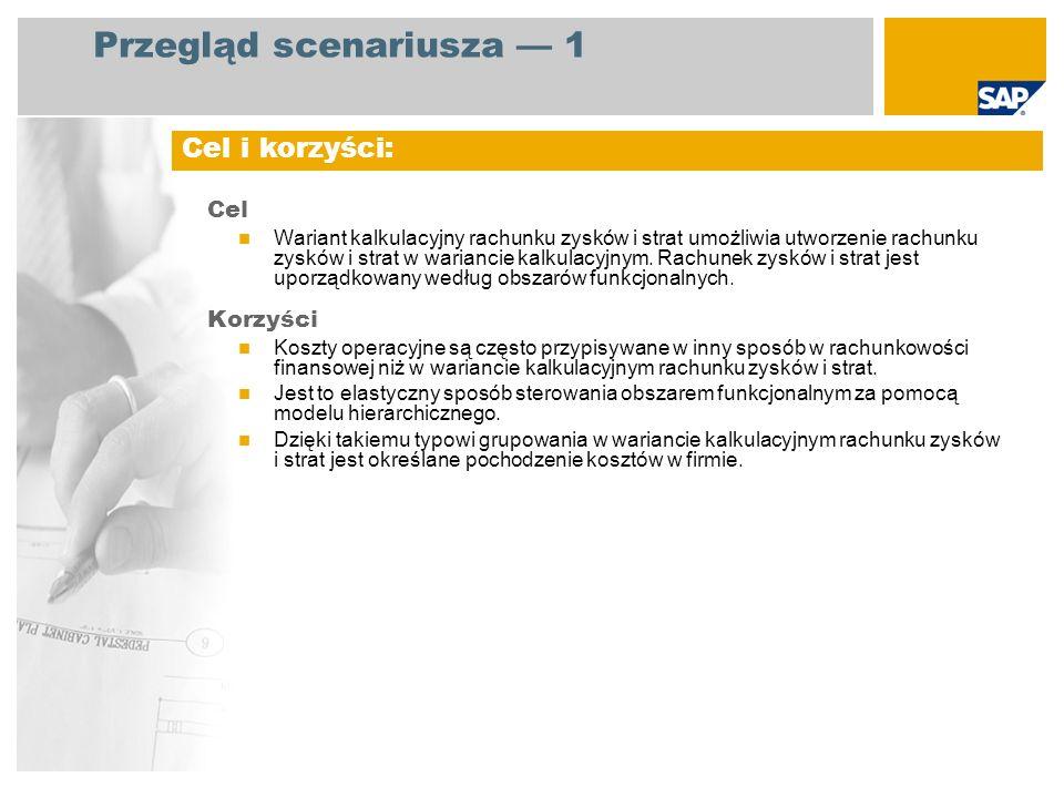Przegląd scenariusza 2 EHP3 for SAP ERP 6.0 Kierownik działu finansowego Księgowy ds.
