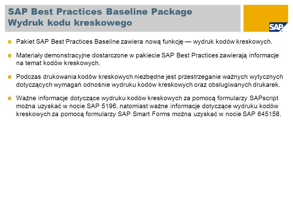 SAP Best Practices Baseline Package: Używane listy POWER Nazwa roliPojedyncza rola Nazwa listy POWER (opis ID aplikacji)ID aplikacji Typ *Używane w BB nowe w EhP3 Accounts Payable Accountant 1 SAP_BPR_AP_CLERK-S1 Strona główna płatności KYKOP-FIN-FI- VENDORLIST_AP_PAY 158 Pozycje pojedyncze dostawcy KYKOP-FIN-FI-VENDORITEMS 158 Lista dokumentów księgowania okresowego KYKOP-FIN-FI-RECU_ENTRY_DOC 157 Accounts Receivable Manager SAP_BPR_AR_CLERK-K KlienciKYKOP-OPS-FI-CUSTOMERS 155.18 Przegląd kredytuKYKOP-CRC-LIST-CUSTOMERS 108, 132, 157 General Ledger Accountant SAP_BPR_FINACC-S Lista kont KGKYKOP-FIN-FI-GL_ACC_LIST 156 Lista dokumentów księgowania okresowego KYKOP-FIN-FI-RECU_ENTRY_DOC 156 Pricing SpecialistSAP_BPR_SALESPERSON-KKlienciKYKOP-OPS-SD-CUSTOMERS 155.18 PurchaserSAP_BPR_PURCHASER-E Wyświetlanie umów ramowych według dostawców /KYK/ISQ_ME3LNx133x Zatwierdzanie zamówienia KYKOP-P2P-REL-PO 129,133 Sales AdministrationSAP_BPR_SALESPERSON-S OfertyKYKOP-OPS-LE-QUOTATIONS 112, 200 Zlecenia sprzedażyKYKOP-OPS-SD-ORDERS 107, 109, 110, 111, 113, 114, 115, 116, 118, 119, 120, 121, 122, 123, 132, 198, 200, 201, 203, 204, 205, 217 Sales BillingSAP_BPR_SALESPERSON-S2RozliczanieKYKOP-OPS-SD-BILLING 107, 114, 115, 109, 119, 111, 120, 113, 116, 204, 118, 201, 123, 121, 132, 194, 195, 196, 198, 199, 200, 205, 212, 217