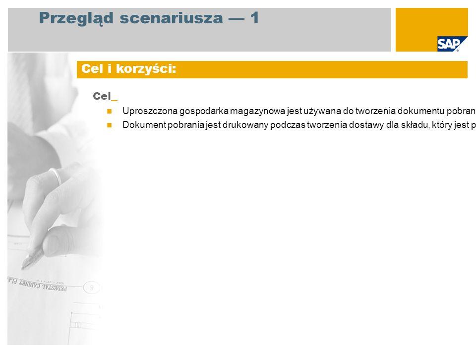 EHP3 for SAP ERP 6.0 Magazynier (rola NWBC) Automatyczne drukowanie dokumentu pobrania, kiedy tworzona jest dostawa dotycząca składu, w którym stosowana jest uproszczona gospodarka magazynowa.