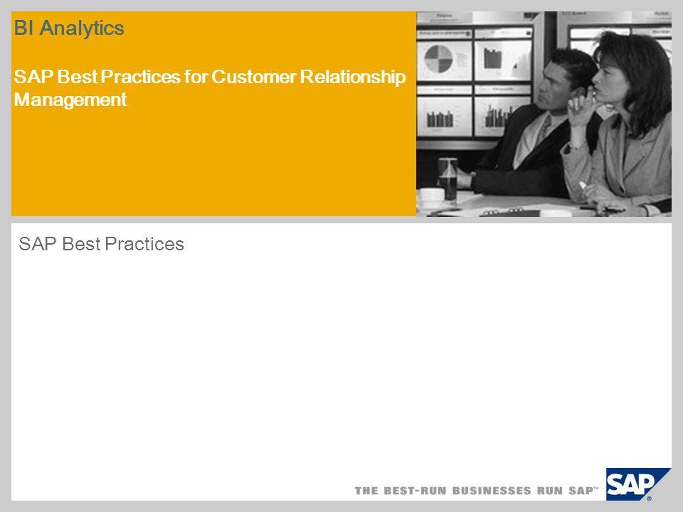 Przegląd scenariusza – 1 Cel W scenariuszu tym opisano sposób konfiguracji systemu SAP NetWeaver BI w celu analizy danych z systemu SAP CRM.