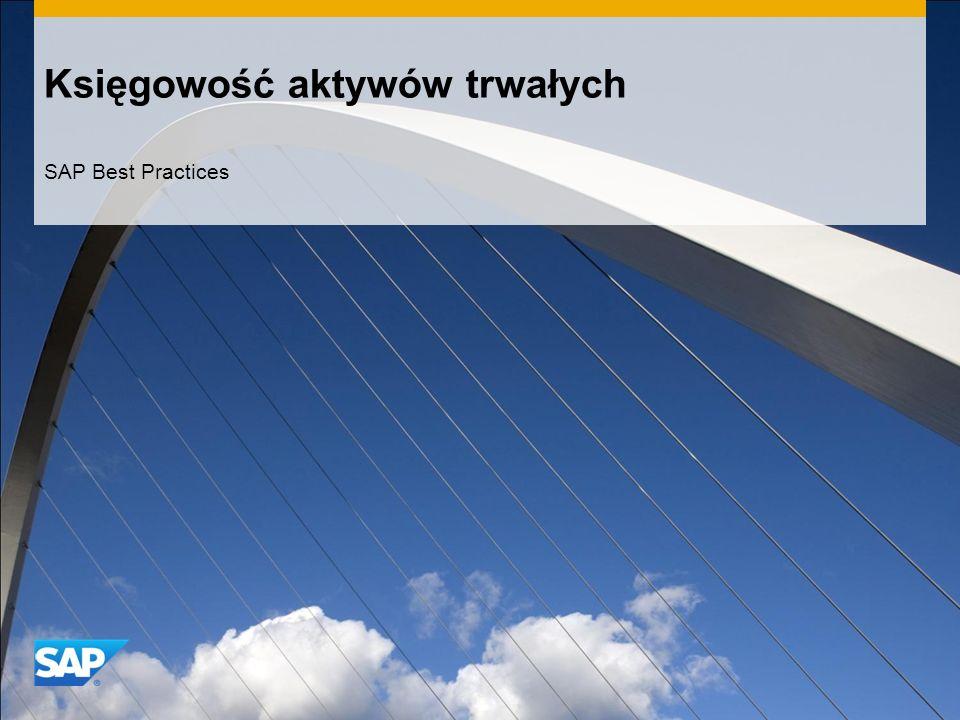 Księgowość aktywów trwałych SAP Best Practices