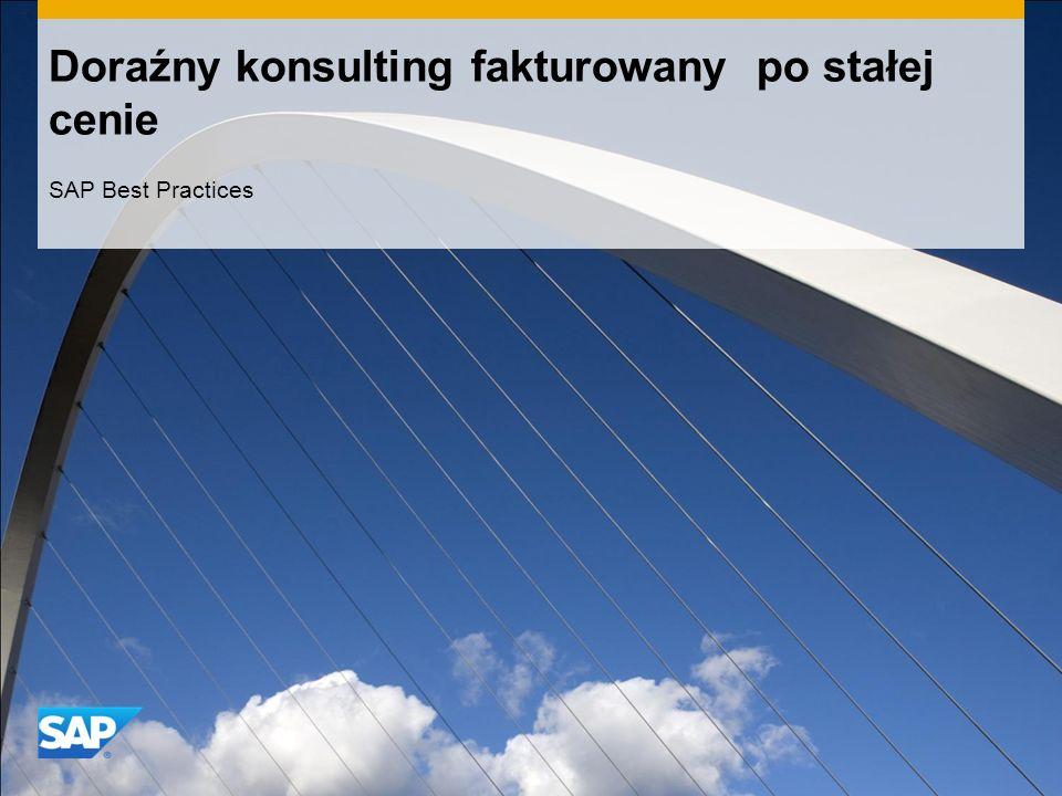 Doraźny konsulting fakturowany po stałej cenie SAP Best Practices