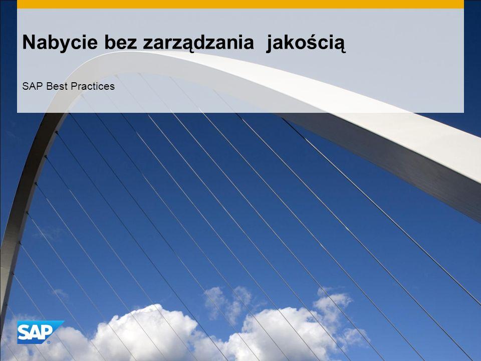 Nabycie bez zarządzania jakością SAP Best Practices