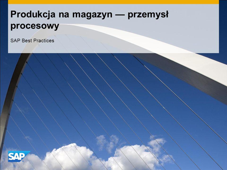 Produkcja na magazyn przemysł procesowy SAP Best Practices