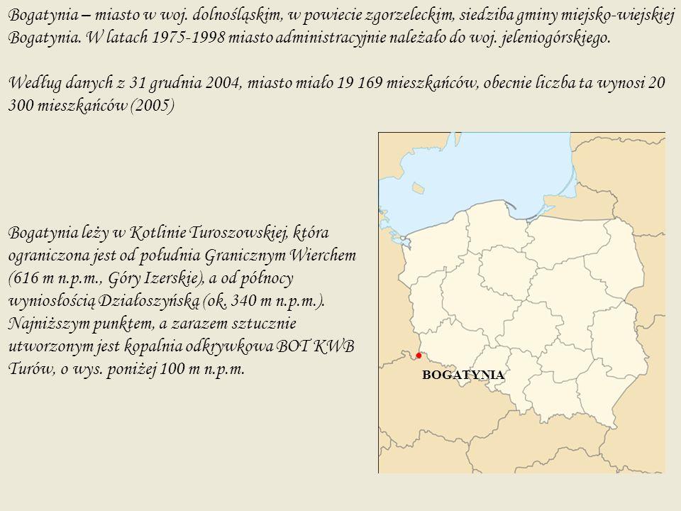 Historia Bogatynia – niewielkie miasteczko położone u styku trzech granic- polskiej czeskiej i niemieckiej.