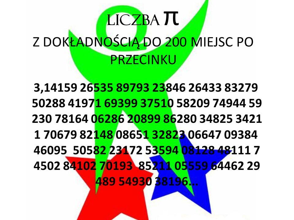 Liczba Pi – Wiersz Wisławy Szymborskiej Podziwu godna liczba Pi trzy koma jeden cztery jeden.
