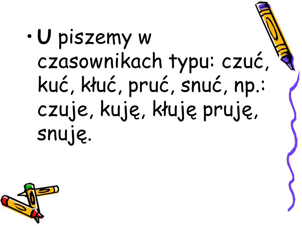 Pisownia wyrazów z,,ż