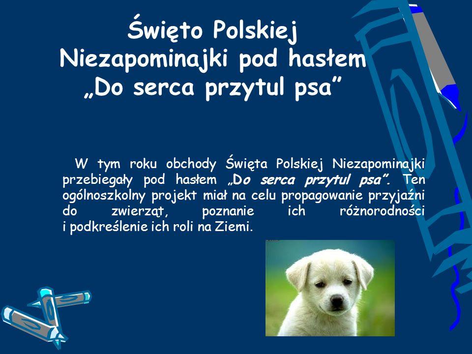 Święto Polskiej Niezapominajki pod hasłem Do serca przytul psa W tym roku obchody Święta Polskiej Niezapominajki przebiegały pod hasłem Do serca przyt