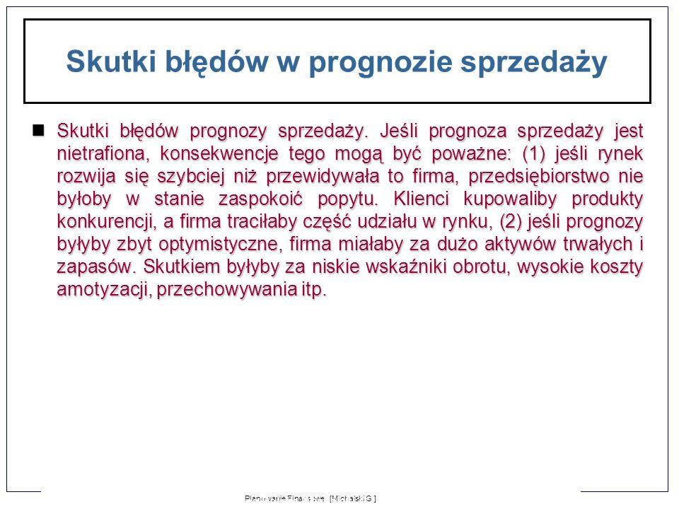 1-10 Planowanie Finansowe [Michalski G.] Zarządzanie Finansami Firmy dla Puratos Polska [Michalski G.] Dodatkowe niezbędne środki (ang.