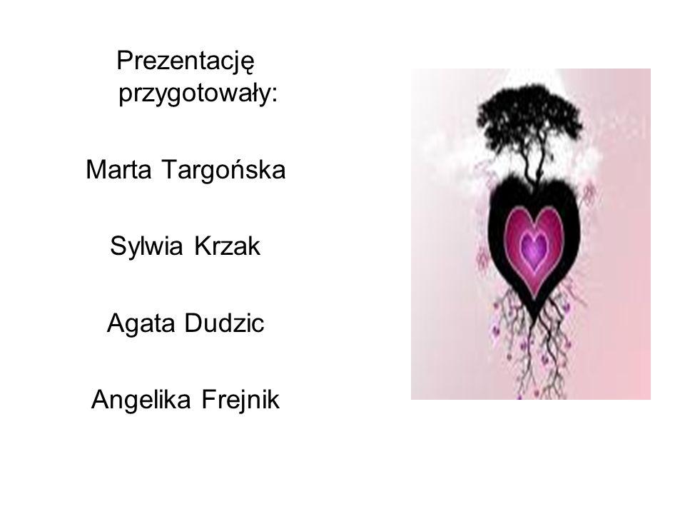 Prezentację przygotowały: Marta Targońska Sylwia Krzak Agata Dudzic Angelika Frejnik