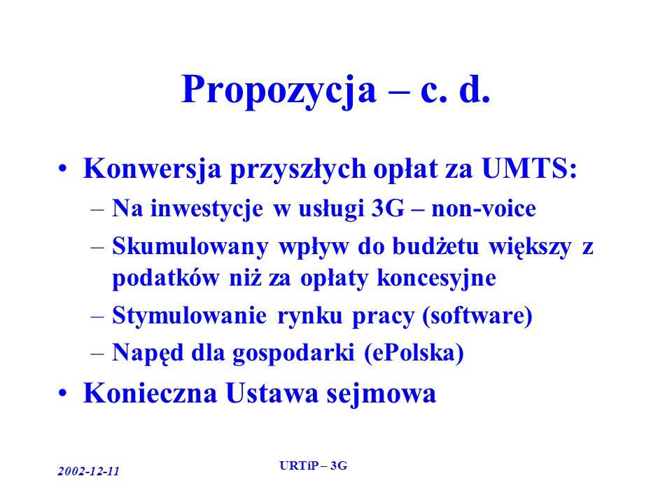 2002-12-11 URTiP – 3G Propozycja – c. d.