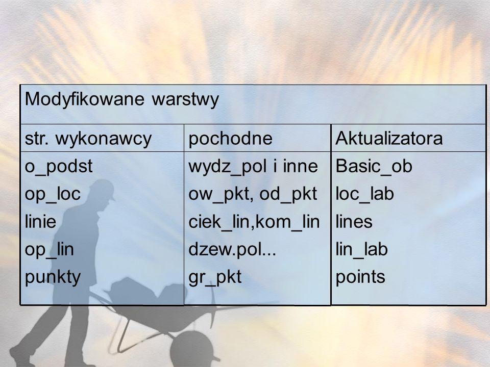Basic_ob loc_lab lines lin_lab points Aktualizatorapochodnestr. wykonawcy wydz_pol i inne ow_pkt, od_pkt ciek_lin,kom_lin dzew.pol... gr_pkt o_podst o