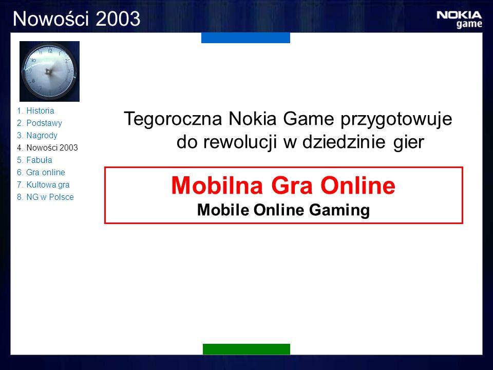 Nowości 2003 Tegoroczna Nokia Game przygotowuje do rewolucji w dziedzinie gier Mobilna Gra Online Mobile Online Gaming 1.