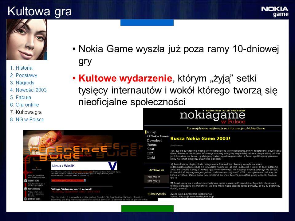 Kultowa gra Nokia Game wyszła już poza ramy 10-dniowej gry Kultowe wydarzenie, którym żyją setki tysięcy internautów i wokół którego tworzą się nieoficjalne społeczności 1.